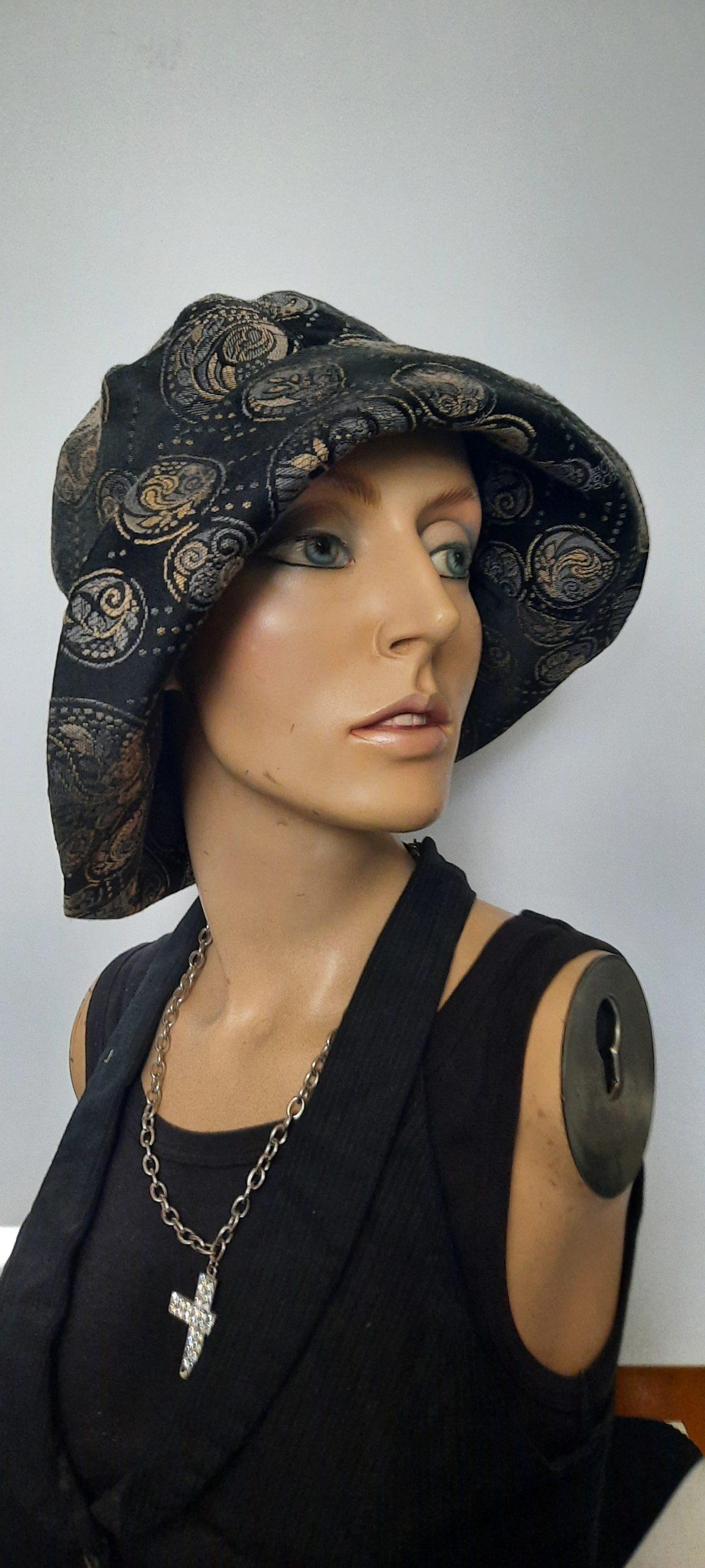 Dunkler Damenhut Rufina - Hutmanufaktur Petra Benz